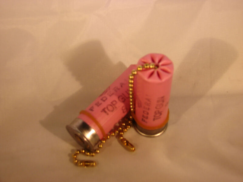 Pink Bullet Shotgun Shell Light Fan Pull Chain Handle Breast Cancer Awareness