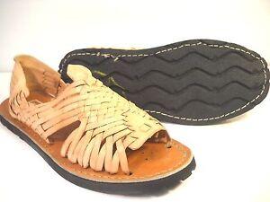 Womens Leather Mexican Sandal Khaki Color Huarache Ladies