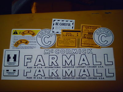 Farmall Super C Decal Set