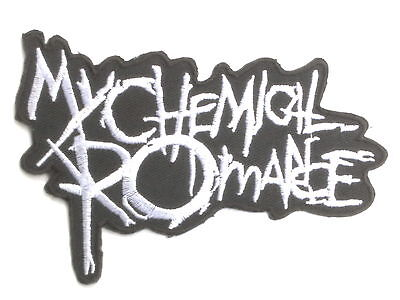"""MY CHEMICAL ROMANCE Cut Out Logo Iron On Sew On Embroidered Patch 4.2""""/11cm"""