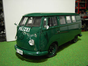 volkswagen fourgon police allemande vert 1 12 voiture miniature sun star 5082 ebay. Black Bedroom Furniture Sets. Home Design Ideas