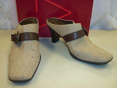 Aerosoles Womens Cinch Mate Light Tan Fabric 9 M Mules Shoes