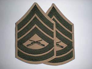 USMC-GUNNERY-SERGEANT-RANK-GREEN-KHAKI-1-PAIR