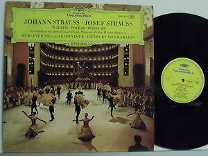 JOHANN-JOSEF-STRAUSS-disco-LP-MADE-in-GERMANY-Walzer-Polkas-Marsche-VON-KARAJAN