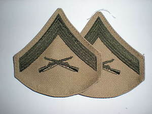 USMC-LANCE-CORPORAL-RANK-GREEN-KHAKI-1-PAIR