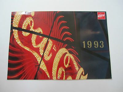 1993 Coca-Cola Wall Calendar - OFFICIAL PRODUCT