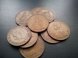 King George VI One Penny Choice 1937 - 1951 Pick Your Own; Free P+P UK