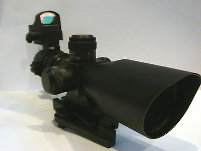2.5-10x40 Tactical Scope And Mini Red Dot Combination Sale