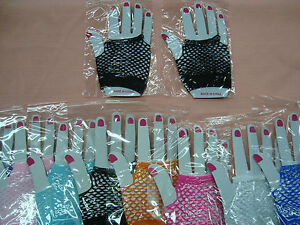 Wrist-Length-Fingerless-Fishnet-Gloves-One-Size-Fits-Kids-to-Adults-One-Pair