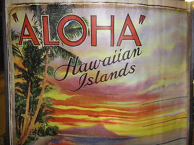 Hawaiian Islands Reuseable Shopping Tote Bag, Sunset At Diamond Head Scene