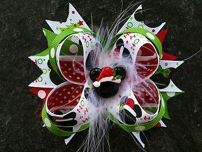 Christmas Minnie Mickey Resin Boutique Hairbow