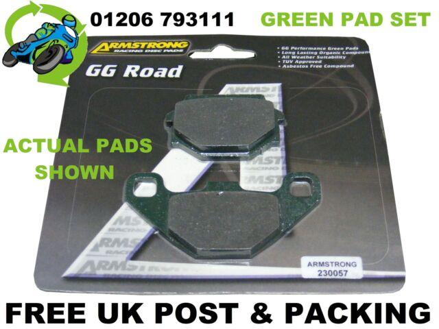 NEW ARMSTRONG PREMIUM GREEN BRAKE PADS PAD SET FRONT SUZUKI GN125 GN 125 94-01