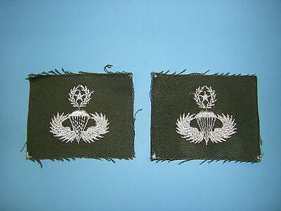 b0603-M  Vietnam US Army Parachute Wing White on OD Master IR39A