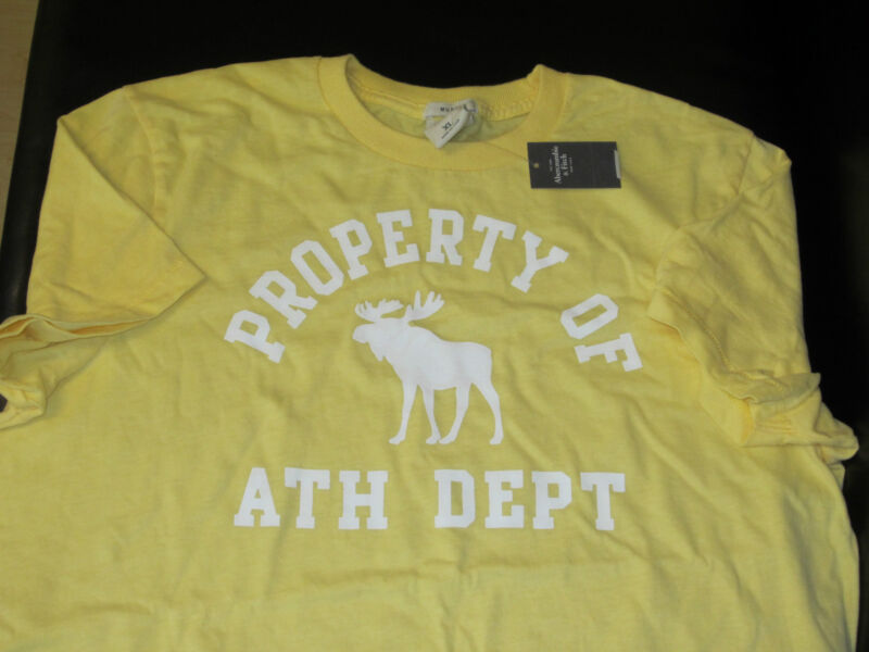BNWT AWESOME ABERCROMBIE & FITCH MOOSE EST 1892 SHIRT WITH LARGE LOGO SIZE XL