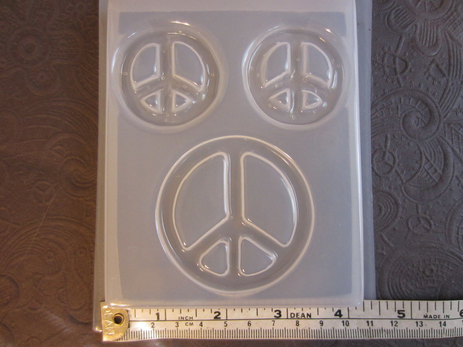 Resin Mold Peace Sign Pendant & Earrings 3 Count 58mm 36mm Epoxy Jewelry Molds