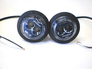 TWO-2-Round-Maxxima-MWL-10SP-LED-Running-reverse-Work-Light-Grommet-Mount