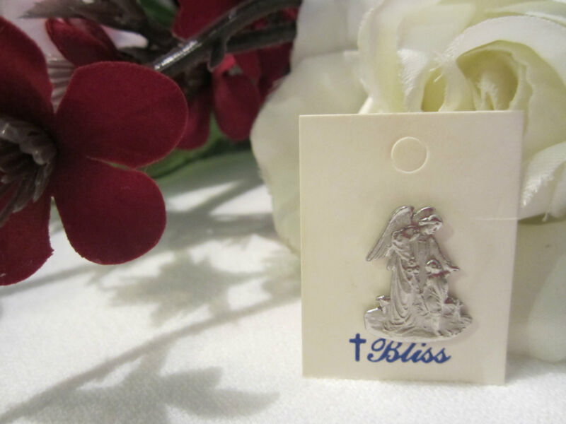Vintage Silver Angel w/child Lightweight Tie pin/Lapel Pin Bliss~A Sacred Beauty