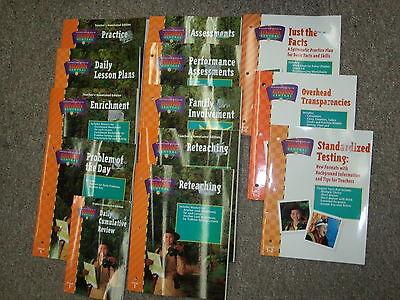 Math Central 1St Grade 1 Houghton Mifflin Huge Lot Of Teacher Resources Set