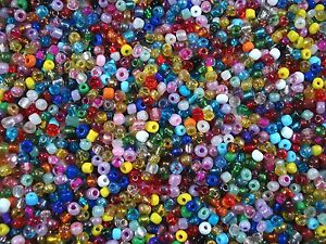 Seed Beads 4mm Multi Mix 50gm Beading Necklaces Bracelets Craft FREE POSTAGE