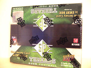 2009 SP Threads Football Box Upper Deck Factory Sealed GU Jersey Per w/Free Ship