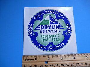 Cool-STICKER-Eddyline-Brewing-Company-Crank-Yanker-IPA-Colorados-Trail-Beer