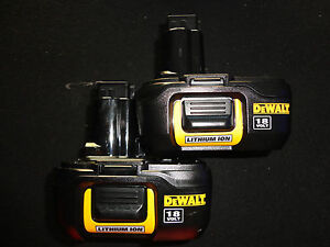(2) DEWALT 18V 18 VOLT DC9181 COMPACT LITHIUM ION BATTERY PACKS NEW X 2