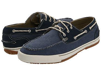 Skechers Nimbus Boat Shoes Mens 11.5 Navy Blue Free Ship