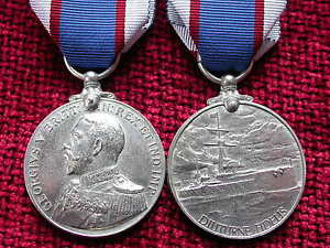 Replica-Copy-WW1-GV-Royal-Fleet-Reserve-Long-Service-Good-Conduct-Medal-Aged