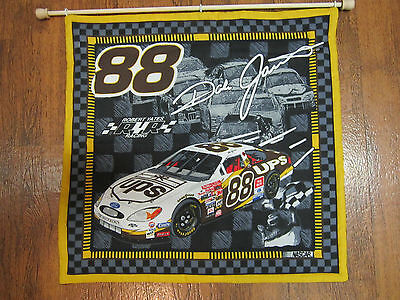Nascar Dale Jarrett 88 Quilted Wall Hanging Comes W/rod 15.5 X 15.5