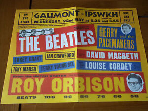 BEATLES-GERRY-AND-THE-PACEMAKERS-ROY-ORBISON-RARE-EARLY-POSTER