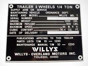 TARGHETTA-Willys-Jeep-Rimorchio-Trailer-SCUDO-S6
