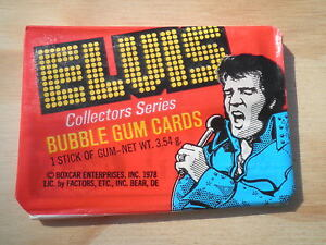 1978-Elvis-Presley-Collectors-Cards-Donruss-Unopened-waxpack-KING-OF-ROCK-RARE