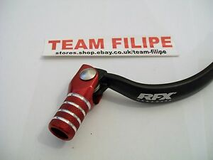 Rfx forged alloy honda crf 450 02 04 gear shift lever pedal motocross