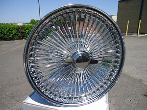 17-Inch-Chrome-Dayton-Style-Wire-wheels-Cadillac-Deville-STS-DTS-Seville-New-4