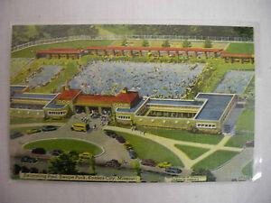 Vintage Linen Postcard Swimming Pool Swope Park Kansas City Missouri Unused