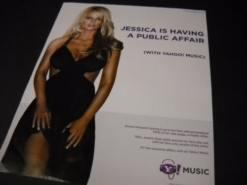 JESSICA SIMPSON Is Having A Public Affair... 2006 Photo Image PROMO POSTER AD