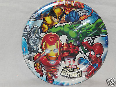 Marvel Super Hero Squad Dinner Plates Party Supplies