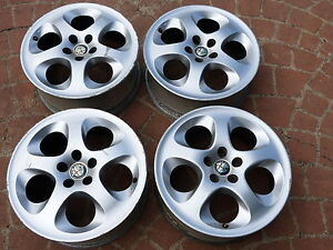 4x-16-ALFA-ROMEO-ALLOY-WHEELS-156-147-SPIDER-GTV-75-90-5X-98-PCD-set-of4