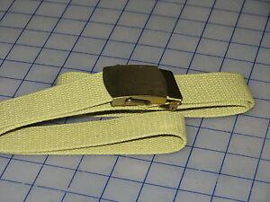 US-military-web-belt-made-in-USA-44-khaki-color-w-buckle-NEW-USGI