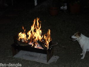 FLAT PACK,FLATPACK,CAMPFIRE,CAMP FIRE,FIREPIT,FIRE PIT, MADE BY THE INVENTOR