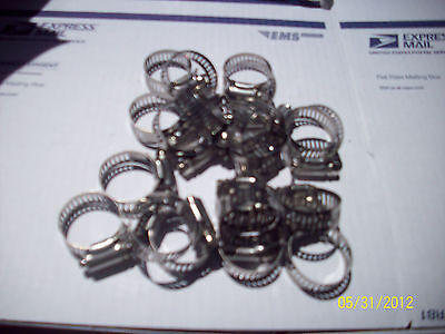 10 PCS  20 ALL STAINLESS BAND  HOUSING SMALL RADIATOR HOSE CLAMP72