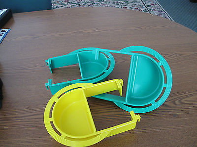 Bird cage plastic Extended feeder dish  Large set of 3 dishes