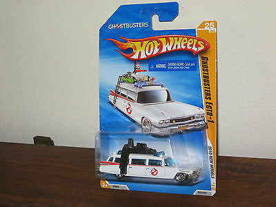 2010 Hot Wheels Models Series Ghostbusters Ecto-1 Hearse Ambulance Rare