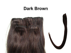 100% Human hair extension Remy clip in party black brown blonde red pink blue