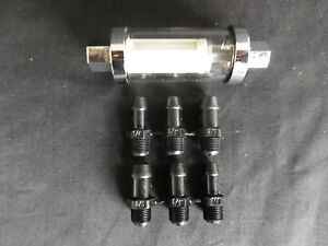 INLINE FUEL FILTER MULTI FIT 3 SIZE FITTINGS INC 1/4 5/16 3/8