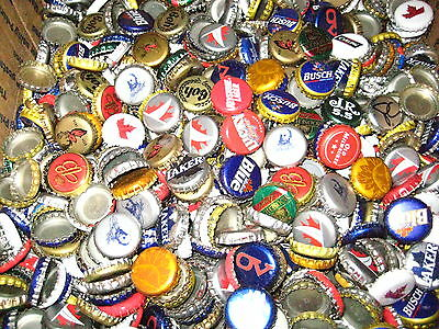 100 Beer Bottle Caps ( No Dents ) Free S&H