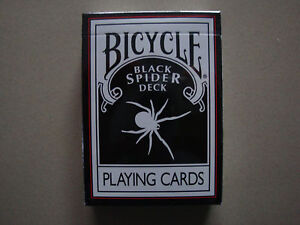 BLACK-SPIDER-DECK-BICYCLE-PLAYING-CARDS-POKER-SIZE-BY-MAGIC-MAKERS-TRICKS-GAMES