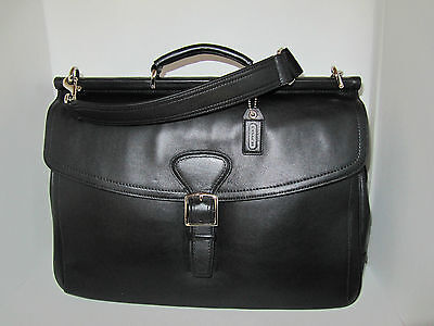 Buy coach briefcases. - Coach Mens Black Leather Beekman Briefcase Laptop Computer Bag 70098 Retail $548