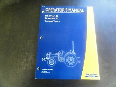 New Holland Boomer 40 Boomer 50 Tractor Operators Manual  84275459