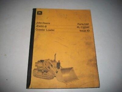 John Deere Jd450-b Crawler Loader Illustrated Parts List Catalog Pl-t32041